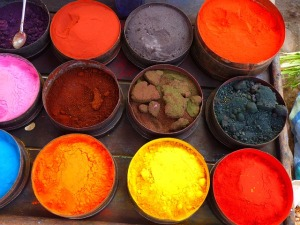 Colourful powder paint